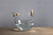 Figurine Mixed Media - Swimming Pool by Nailia Schwarz