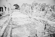 Byzantine Photos - Swimming Pools In The Gymnasium And Baths In The Ancient Site Of Old Roman Villa Salamis by Joe Fox