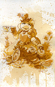 Fashion Metal Prints - SwinePunk Metal Print by Brian Kesinger