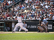 Baseball Art Print Photos - Swing and Hit by Cindy Lindow