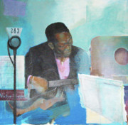 Benny Painting Originals - Swing beckons Charlie Charlie Christian by Johnny Bull