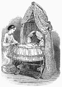 Drapery Prints - Swing Cradle, 1862 Print by Granger