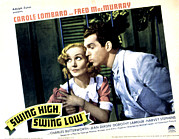 Lobbycard Framed Prints - Swing High, Swing Low, Carole Lombard Framed Print by Everett