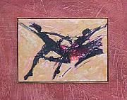 Dancer.dancers Mixed Media Posters - Swing Poster by Lori Austill