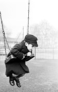 Child Swinging Art - Swing Low by Raymond Kleboe