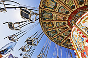 Below Framed Prints - Swing Ride at the Fair Framed Print by Jeremy Woodhouse