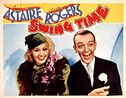 Lobbycard Prints - Swing Time, Ginger Rogers, Fred Print by Everett