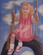 Child Swinging Painting Prints - Swingin Print by Patricia Ortman