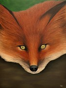 Fox Painting Prints - Swiper the Fox Print by Kenneth M  Kirsch