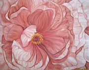 Peach Tapestries - Textiles Originals - Swirls and Layers by Husna Rafath