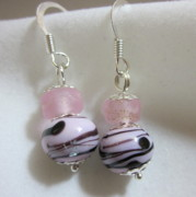 Organic Jewelry - Swirls and Silver Earrings by Janet  Telander