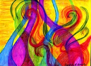 Bright Colors Pastels Metal Prints - Swirls and Twirls Metal Print by Cassandra Donnelly