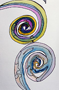 Sketchbook Prints - Swirls Print by Carolyn Weir