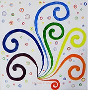 Combinations Framed Prints - Swirls Framed Print by Sonali Gangane