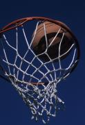 Hoops Photos - Swish.  A Basketball by Stacy Gold