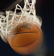 Basketballs Art - Swish by Shane Kelly