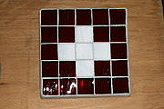 One Of A Kind Glass Art - Swiss Flag Stepping Stone by Hartz
