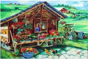 Swiss Painting Originals - Swiss Landscape by Kalpana Talpade Ranadive