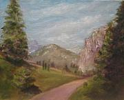 Swiss Painting Originals - Swiss Trail by Liz Hume
