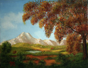 Swiss Art Paintings - Swiss Valley by Arno Clabaugh