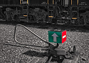Diesel Locomotives Prints - Switch Stand Print by Susan Candelario
