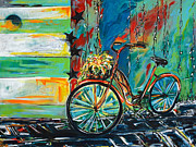Cruiser Painting Posters - Switching Gears Poster by Nancy Hilliard Joyce