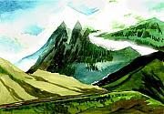Featured Paintings - Switzerland by Anil Nene