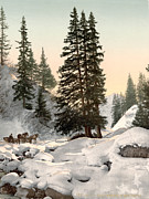 Switzerland Paintings - SWITZERLAND: DAVOS, c1895 by Granger