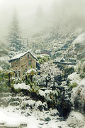 Stone Bridge Photos - Switzerland in winter by Joana Kruse