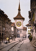 Photochrom Photos - Switzerland, The Clock Tower, Berne by Everett