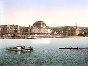 Photochrom Photos - Switzerland, The Theatre And Utoquay by Everett