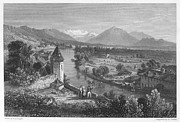 1833 Photo Framed Prints - Switzerland: Thun, 1833 Framed Print by Granger
