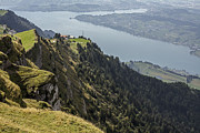 Zug Photos - Switzerland, View Of Lake Zug At Rigi Kulm by Westend61