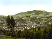 Photochrom Photos - Switzerland, Wald, General View by Everett