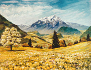 Switzerland Paintings - Switzterland by JoAnne Corpany