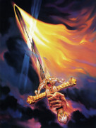 Fire Posters - Sword of the Spirit Poster by Jeff Haynie