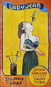 Saw Prints - SWORD SWALLOWER, c1955 Print by Granger