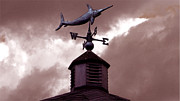 Weathervane Digital Art Prints - Swordfish Weathervane Print by Tisha McGee