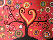 Rekha Artz - Swril Tree paintng