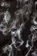 Visible Prints - Swriling Smoke  Print by Garry Gay