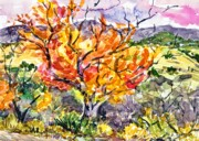 Tree. Sycamore Paintings - Sycamore at Montezumas Well I by Gurukirn Khalsa