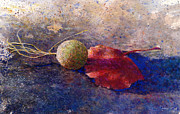 Sycamore Paintings - Sycamore Ball And Leaf by Andrew King