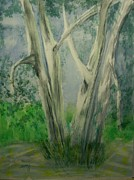Tree. Sycamore Paintings - Sycamore by Spencer  Joyner