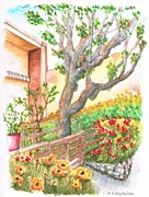 Sycamore Paintings - Sycamore-tree-in-Venice-California by Carlos G Groppa