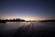 Sydney City Prints - Sydney City Skyline at Sunset Print by Douglas Barnard