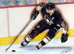 Nhl Drawings Prints - Sydney Crosby Print by Dave Olsen