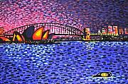 Harbour Mixed Media Prints - Sydney Harbour Print by Alan Hogan