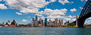 Sydney Skyline Art - Sydney Harbour by Barry Teutenberg