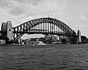 Rights Managed Framed Prints - Sydney Harbour Bridge in Black and white Print Image Framed Print by Chris Smith