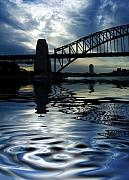 Sydney Harbour Posters - Sydney Harbour Bridge reflection Poster by Sheila Smart
